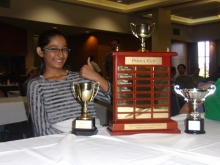 Kashish and all of her trophies!
