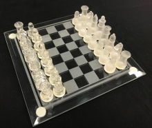 Medium Glass Chess Set