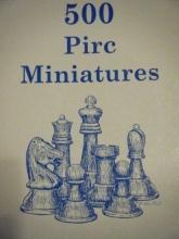 chess equipment: 500 Pirc defense miniatures